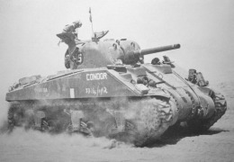 "British-M4-Sherman-""Condor""-on-the-move-most-likely-in-north-africa-"